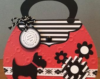 Purse Gift Card Holder, Birthday Gift Card Holder, Purse Shaped Gift Card Holder Birthday Card, Money Purse Card, Gift Card Holder For Her,