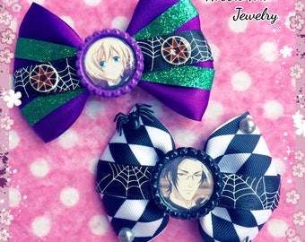Black Butler Alois & Claude Anime Hair Bows