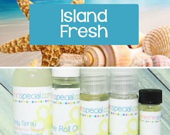 Island Fresh Perfume, Perfume Spray, Body Spray, Perfume Roll On, Perfume Sample Oil, Dry Oil Spray, 5 Different Product Choices