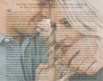 Custom Made 11x14 LDS Family Proclamation with your photo- emailed copy print at home