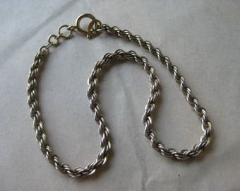 Gold Sterling Bracelet Chain Vintage 925 Vermeil Rope Danecraft