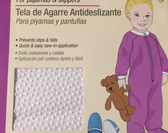 Anti_Skid Gripper Fabric 11 x 24 inches new & unopened package for slippers and pj footies