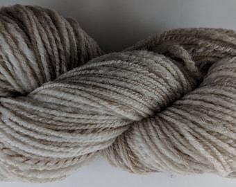 Soft Shetland Wool Handspun Yarn - Fawn - 178 yards Farm Raised