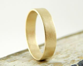 RESERVED for Sarah B || Gold ring, 2 mm x 1.5 mm wedding band, 14k solid yellow gold band, solid gold wedding ring, simple gold ring.