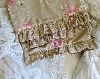Shabby Chic Lovely...Retired Cabbage Rose Pillow Shams