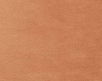 Super Soft BURNT ORANGE Washable Velvet Fabric Multipurpose UPHOLSTERY Apparel Home Decor