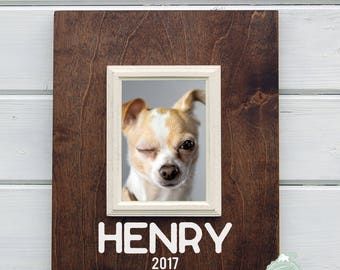 Personalized Dog Photo Frame, Dog Picture Frame, Dog, dog lover gift, mans best friend, 5X7 Picture Frame