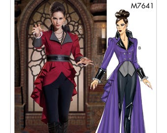 Cosplay Costume Sewing Pattern - McCalls M7641 Sewing Pattern - Evil Queen -Cosplay - UNCUT Sizes: 6-8-10-12-14 or 14-16-18-20-22