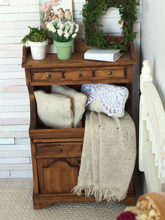 Rustic Prairie Miniature Dollhouse Dry Sink-1:12 scale