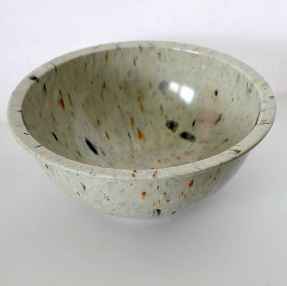 Vintage Texas Ware Mixing Bowl, No. 125 Splatter Confetti 50s Light Large Bowl