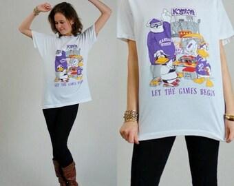 SALE 25% off sundays Kansas U T Shirt Vintage 1988 Kansas State University College Football Soft Distressed T Shirt (l xl)