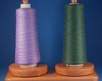Alder Twin Yarn Holder - Specialty Lacquer Finish
