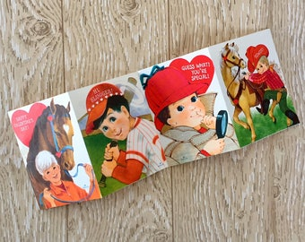 Vintage 1970s Valentine Boy Card Set of Four from Hallmark