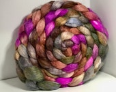 Spinning Fiber BFL/Bombyx 60/40 Combed Top - 7.5oz  - Castle Stairs
