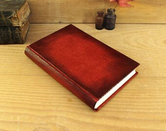 Red Leather Journal with Snake Skin Texture, Artist Paper