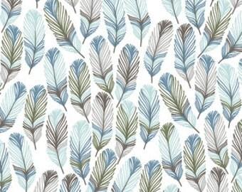 feather crib bedding-feather crib sheet- blue baby bedding- fitted crib sheet / mini crib sheet/ changing pad cover- boy crib bedding