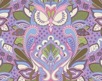 Very Rare Tula Pink Full Moon Forest Owls