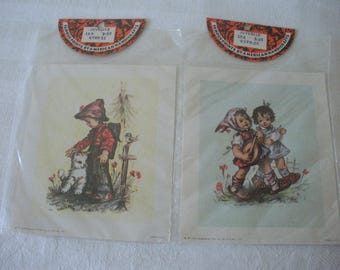 2 Famous Prints by American Handicrafts HUMMEL Kids 1971 Lithographs Made in USA Suitable for Framing, Decoupage Versatile For Arts & Crafts