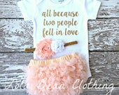 Baby Girl Coming Home Outfit Take Home Outfit lolabeanclothing Baby Girl Outfit Newborn Girl Clothes Baby Shower Gift Peach Gold