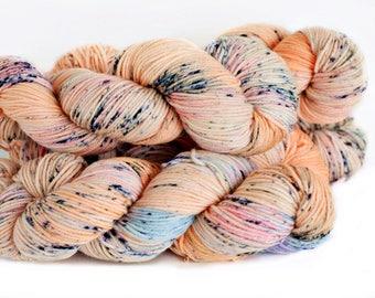Awesome 246 yards/ Posh DK Yarn/ superwash merino 4 ply speckle dyed