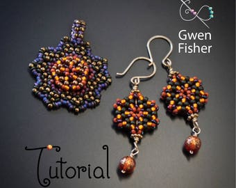TUTORIAL Garden Weave Flat Beaded Angle Weave with Seed Beads and Demi Rounds