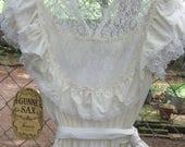 Vintage Gunne Sax White Dress - Size 11 - Original Tag - Never Worn