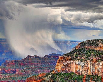 Storm over the Grand Canyon. Streached Canvas 20 X 36 inchs