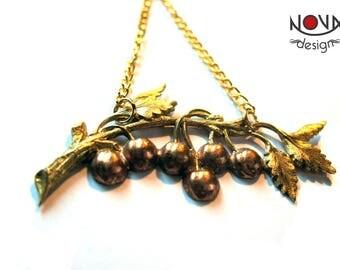 * Necklace Art Nouveau * Golden tree