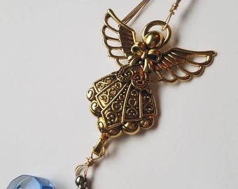 Christmas Holiday Tree Ornament Angel Cremation Urn Bead Memorial Fill Yourself Holiday Gift