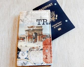 Passport Wallet, Passport Cover, Passport Holder for Travel, Travel Gift, Fabric Passport Cover, Gift for Traveler, Passport Cover Case,