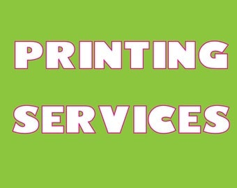 PRINTING SERVICES - Printed Invitations on 1 Sheet of Card Stock - Add-On Item