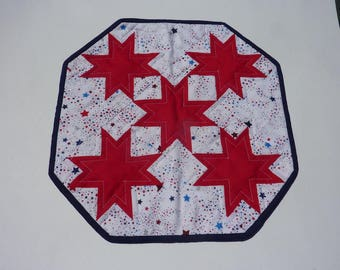 Red Stars Octagonal Table Topper