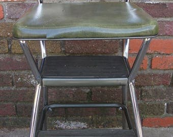 Vintage Green Cosco Step Stool/Retro Kitchen