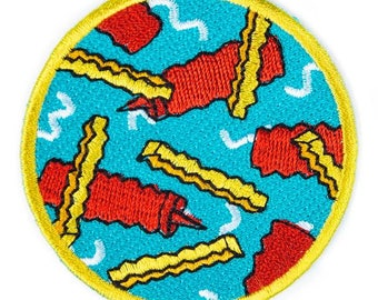 Fast Food Iron On Patch