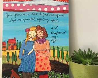 Print on Wood 8x10 : Your Friendship