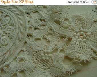 ON SALE Antique Edwardian Heirloom Tambour Brussels Intoxicating Antique Handmade Whitework Collar Downton Gatsby N055