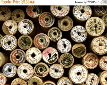 ONSALE One Dozen Old Wooden Thread Spools
