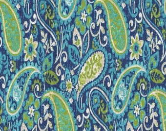 Dursley Curacao Paisley Cotton Fabric by the half yard