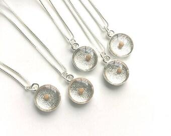 christian wedding jewelry. silver mustard seed bridesmaids gifts. symbolic bridal jewelry. mustard seed faith gifts. faith bridesmaids gifts
