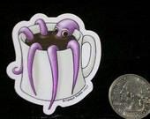 Coffeepus two inch die cut vinyl sticker