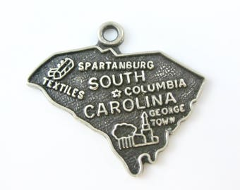 Vintage South Carolina Sterling Silver State Travelers Charm