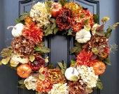 Fall WREATHS for Front Door, Fall Wreathes, Autumn Decor, Autumn Wreaths, Thanksgiving Decor, XL Fall Wreaths, Front Door Wreaths