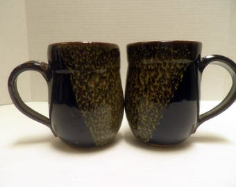 handmade MUGS, set of 2, Stoneware cups