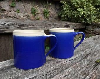 Set of 2 | Medium | Hand-thrown Stoneware Mugs