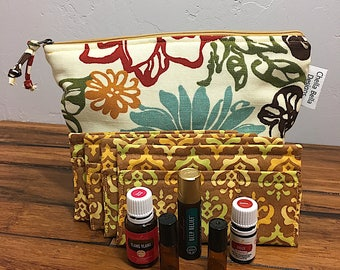 Essential Oils Bag, INSPIRATION,Aromatherapy Bag, Oils Case, Oils travel bag, Oil storage, Oils carry case, Essential Oil case, Oil Tote