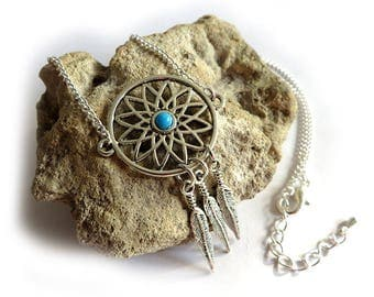 Dream Women's Necklace, Indian, Dreamcatcher, feather necklace, gifts for her, handmade jewelry, boho, dream necklace catch,