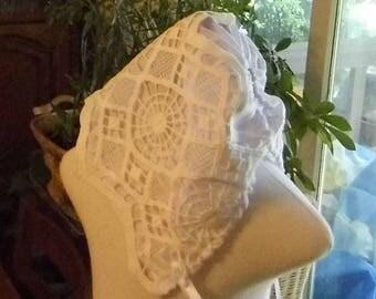 Amazing Grace christening, blessing, baptism bonnet