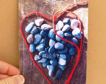 Red-Stringed Heart 4 x 6 Postcard, Set of 6