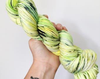 Kiwis - Hand dyed double knit yarn 100g/225m superwash merino, nylon blend
