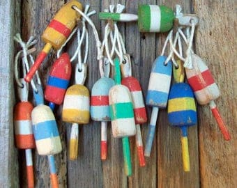 12 Dollhouse Scale Lobster Buoys   1:12 scale